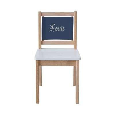 Chaise écolier - Toile unie bleue marine