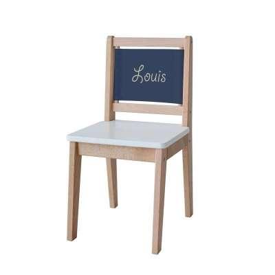 Chaise d'écolier - Toile unie bleue marine