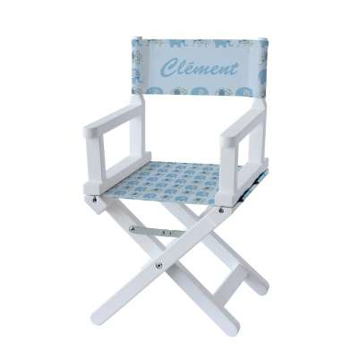 Chaise metteur en scène - Petits éléphants bleus