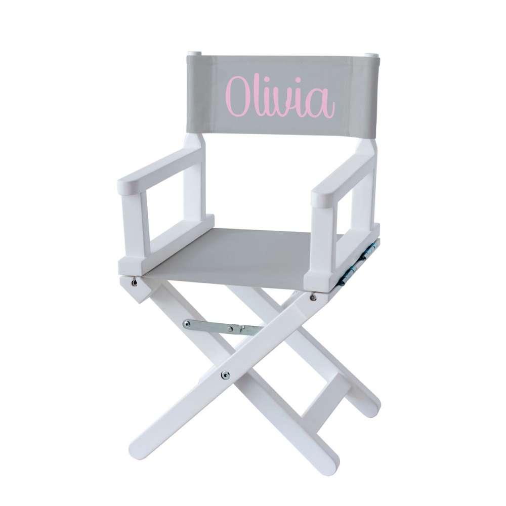 Ma Petite Chaise Nantes chaise metteur en scène - toile unie grise