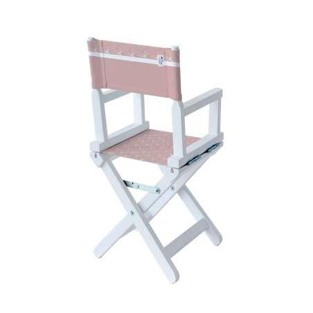 Chaise metteur en scène - Vieux rose à étoiles