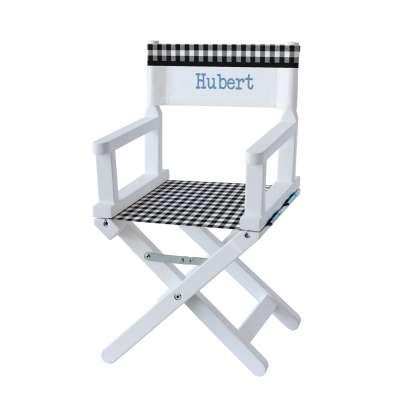 Chaise metteur en scène - Carreaux vichy vert foncé