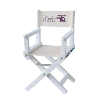 Chaise metteur en scène - Petit pilote d'hélico sur toile unie grège