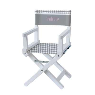 Chaise metteur en scène - Pieds de poule gris