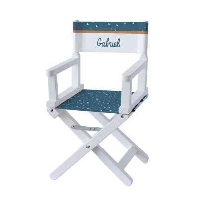 Chaise metteur en scène - Petit triangle bleu foncé
