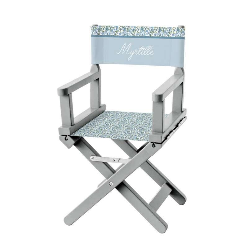 chaise metteur en sc ne fleurs des champs bleues ma. Black Bedroom Furniture Sets. Home Design Ideas