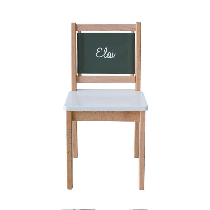 Chaise d'écolier - Toile unie grise anthracite