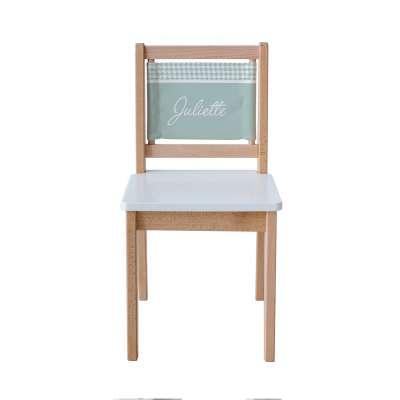 Chaise d'écolier - Pieds de poule vert d'eau