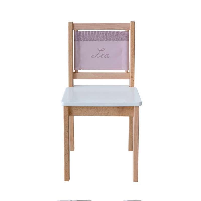 Chaise d'écolier - Prune à petits pois