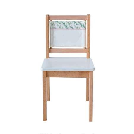 Chaise d'écolier - Imprimé botanique