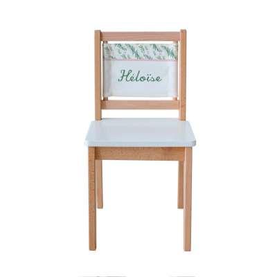 Chaise écolier - Imprimé botanique