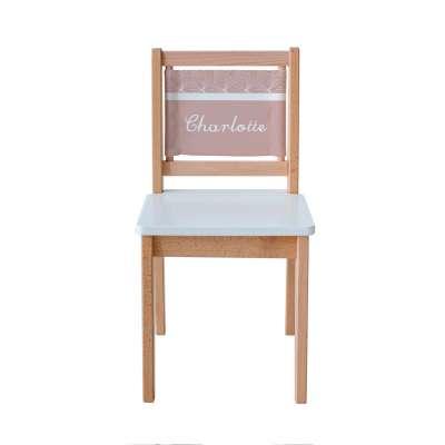 Chaise d'écolier - Vieux rose à étoiles