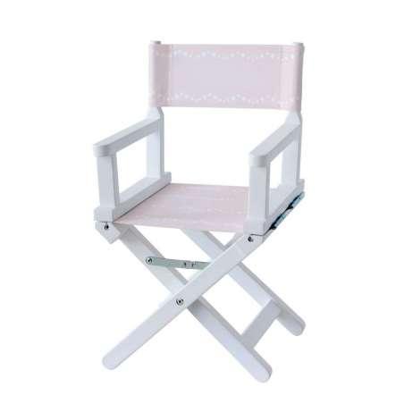 Chaise metteur en scène - Pluie d'étoiles rose