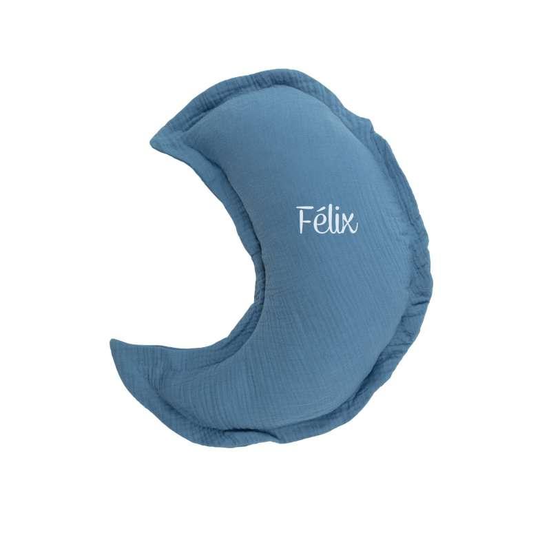 Coussin Lune - Bleu jean