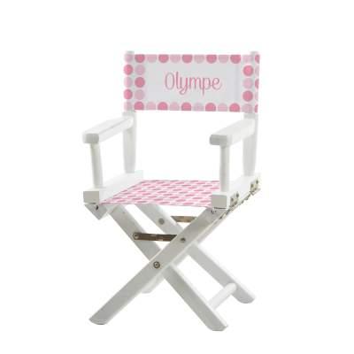 Chaise metteur en scène - Gros pois roses