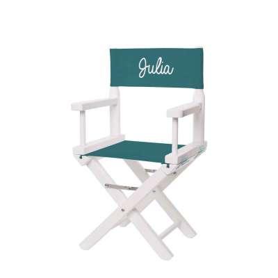 Chaise metteur en scène - Toile unie vert canard
