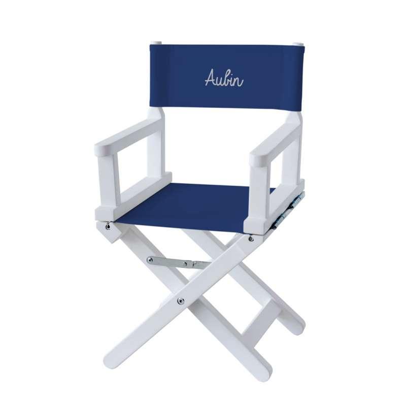 Chaise metteur en scène - Toile unie bleu roi