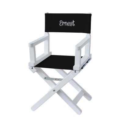 Chaise metteur en scène - Toile unie noire