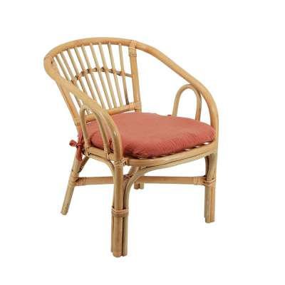 Chaise rotin enfant - Coussin Marsala