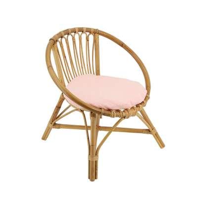 Chaise rotin enfant - Coussin Rose Blush