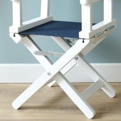 Chaise metteur en scène - Zoom chassis blanc