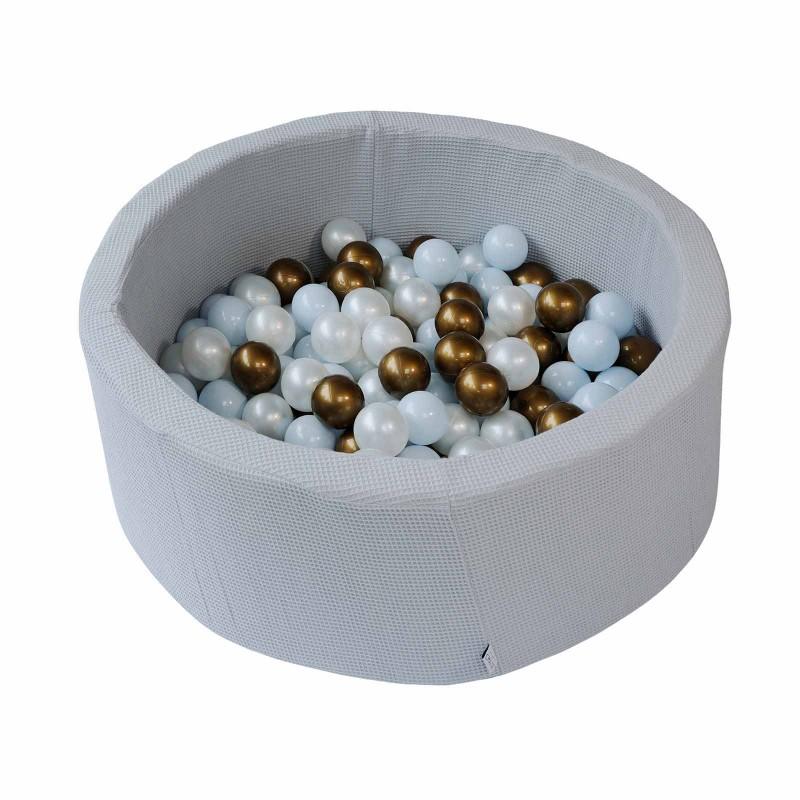 Piscine à balles - Nid d'abeille bleu glacier