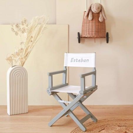 Chaise metteur en scène - Toile unie blanche