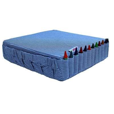Réhausseur de chaise rayures bleues et blanches - Minene