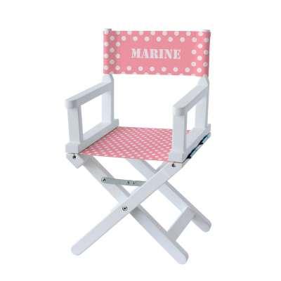 Chaise metteur en scène - Pois et rayures roses et grises