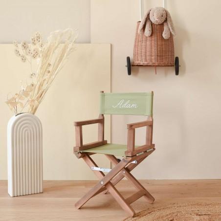 Chaise metteur en scène bébé vert kaki