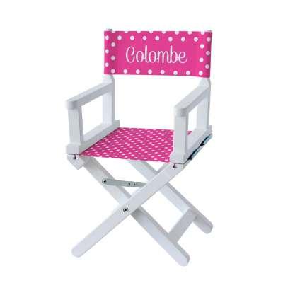 Chaise metteur en scène - Petits pois roses fuchsias