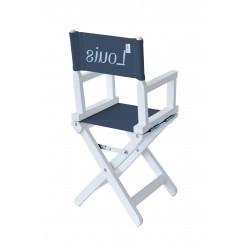 Chaise metteur en scène bébé bleu marine