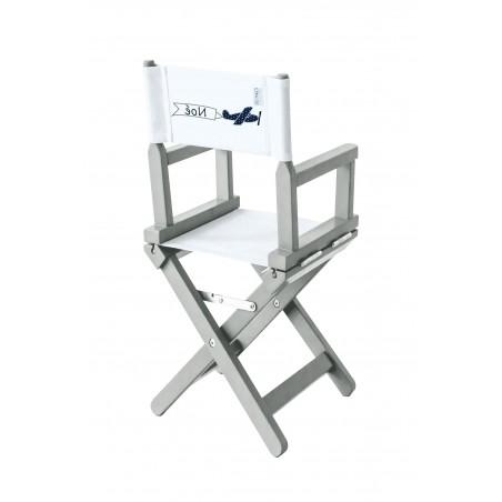 Chaise metteur en scène bébé blanche