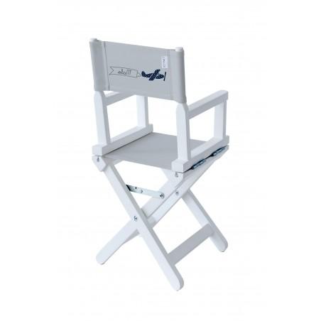 Chaise metteur en scène bébé grise