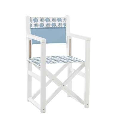 Jeu de toiles pour fauteuil de cinéaste - Petits éléphants blancs