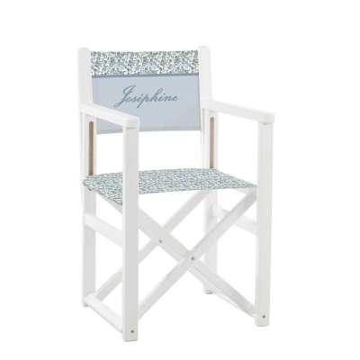 Jeu de toiles pour fauteuil de cinéaste - Fleurs des champs bleues