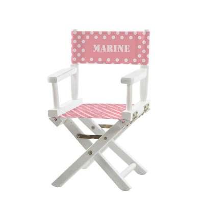 Jeu de toiles pour chaise de metteur en scène - Pois et rayures roses et grises