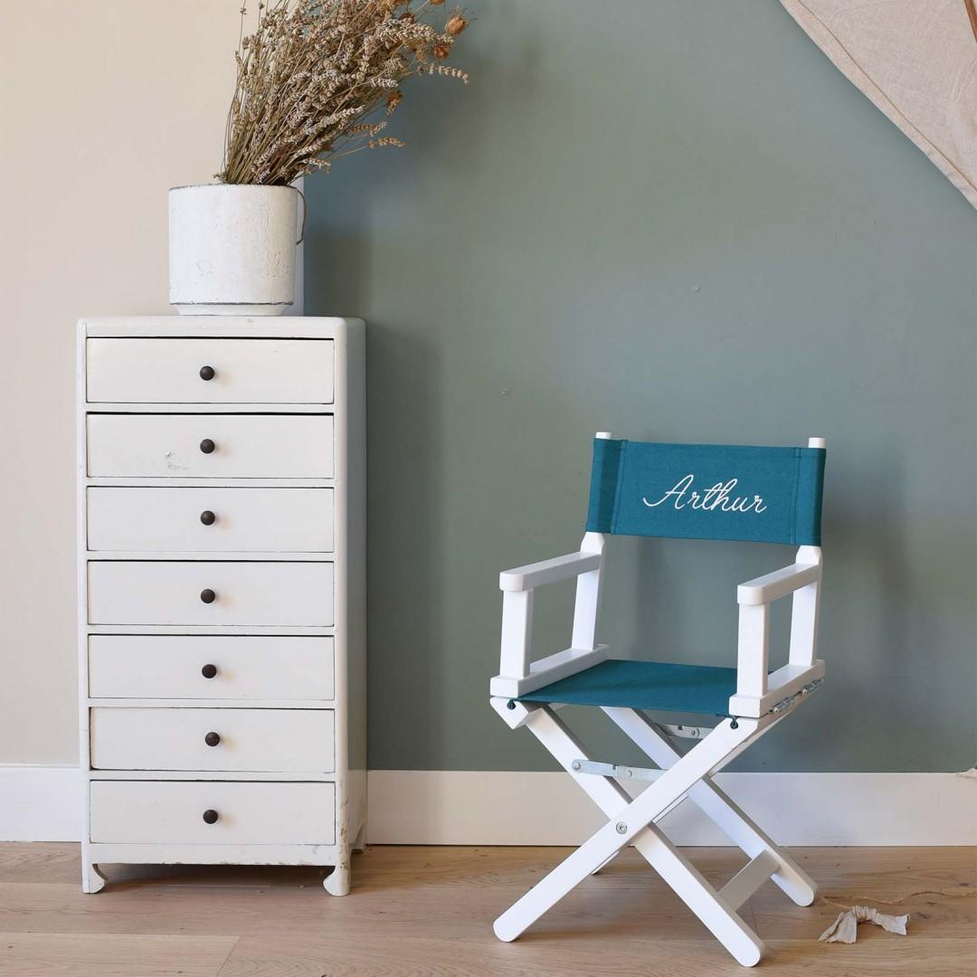 Chaise metteur en scène bébé vert canard