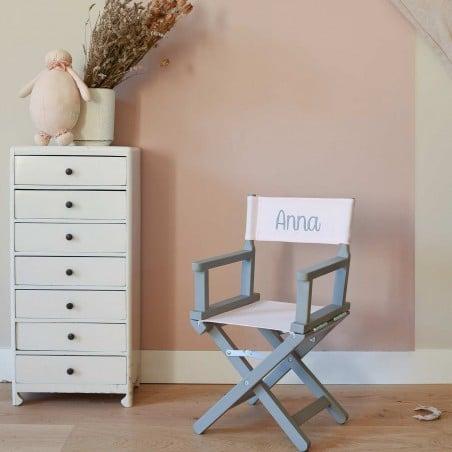 Chaise metteur en scène bébé rose clair