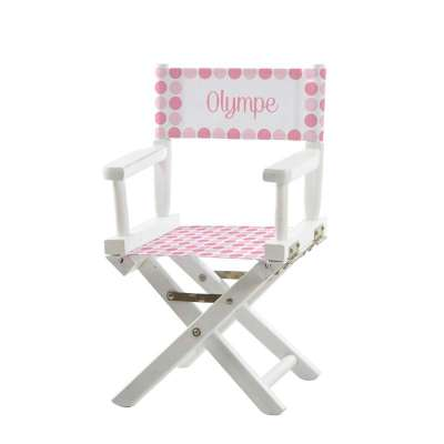 Jeu de toiles pour chaise de metteur en scène - Gros pois roses