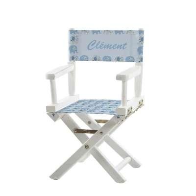 Jeu de toiles pour chaise de metteur en scène - Petits éléphants bleus