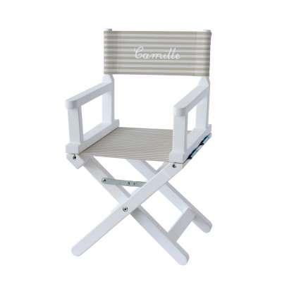 Chaise metteur en scène - Rayures beiges et blanches