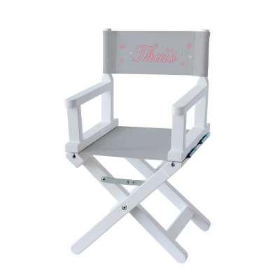 Chaise metteur en scène - Ma première étoile sur toile unie grise
