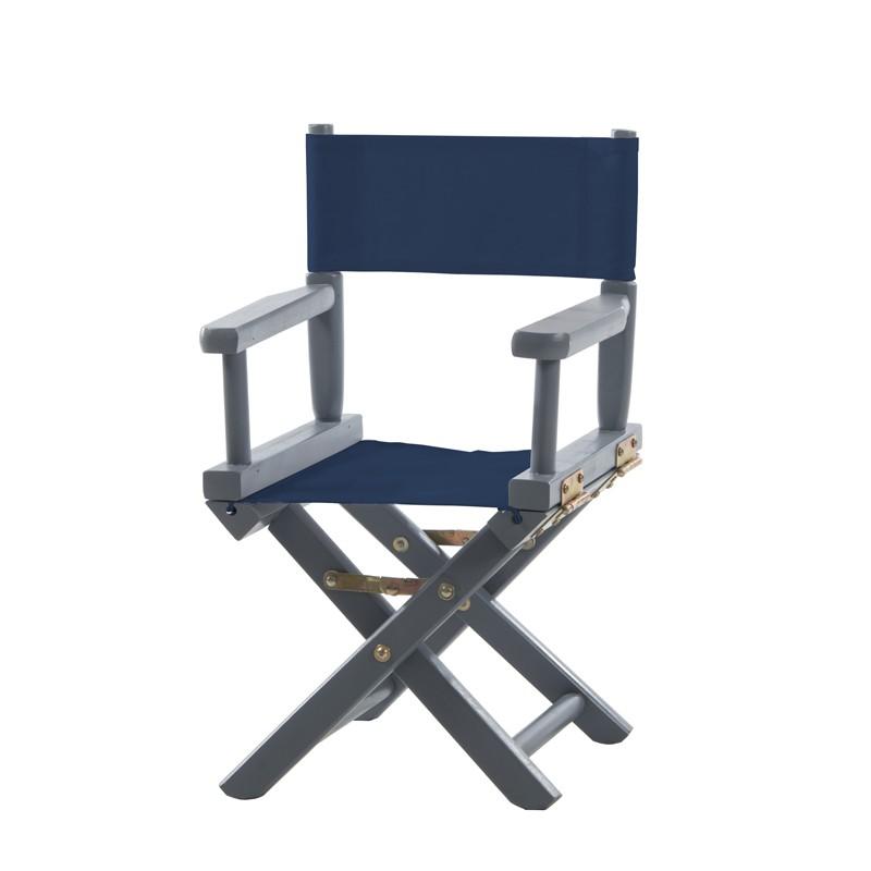 chaise metteur en sc ne enfant bleue marine ma petite. Black Bedroom Furniture Sets. Home Design Ideas
