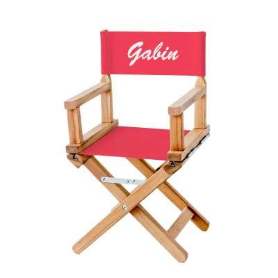 Chaise metteur en scène - Toile unie rouge