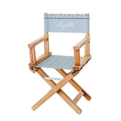 Chaise metteur en scène - Fleurs des champs bleues