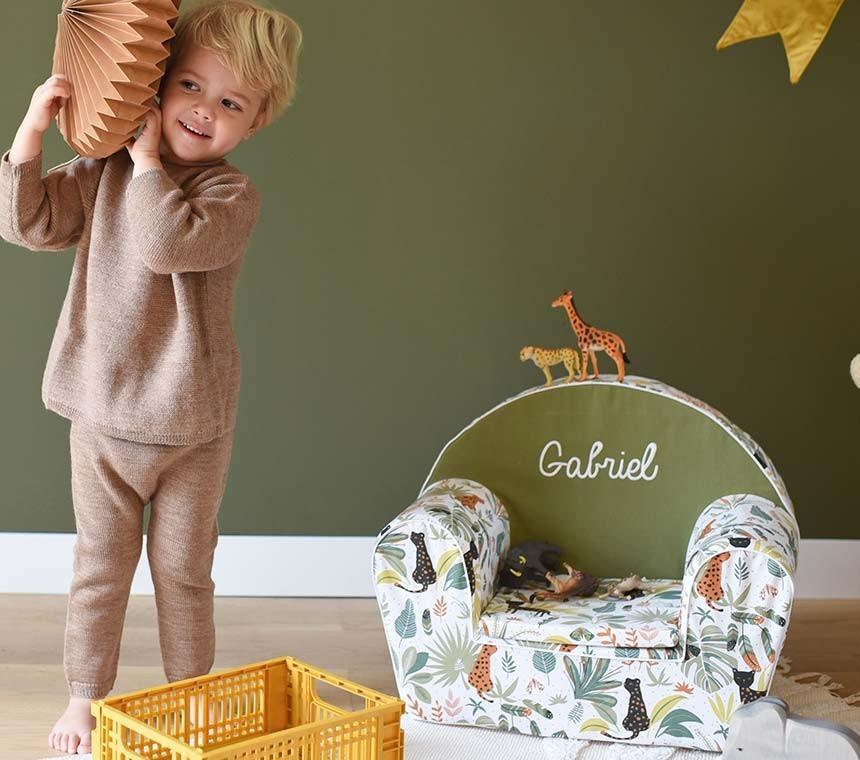 Collection de fauteuils enfant imprimés animaux